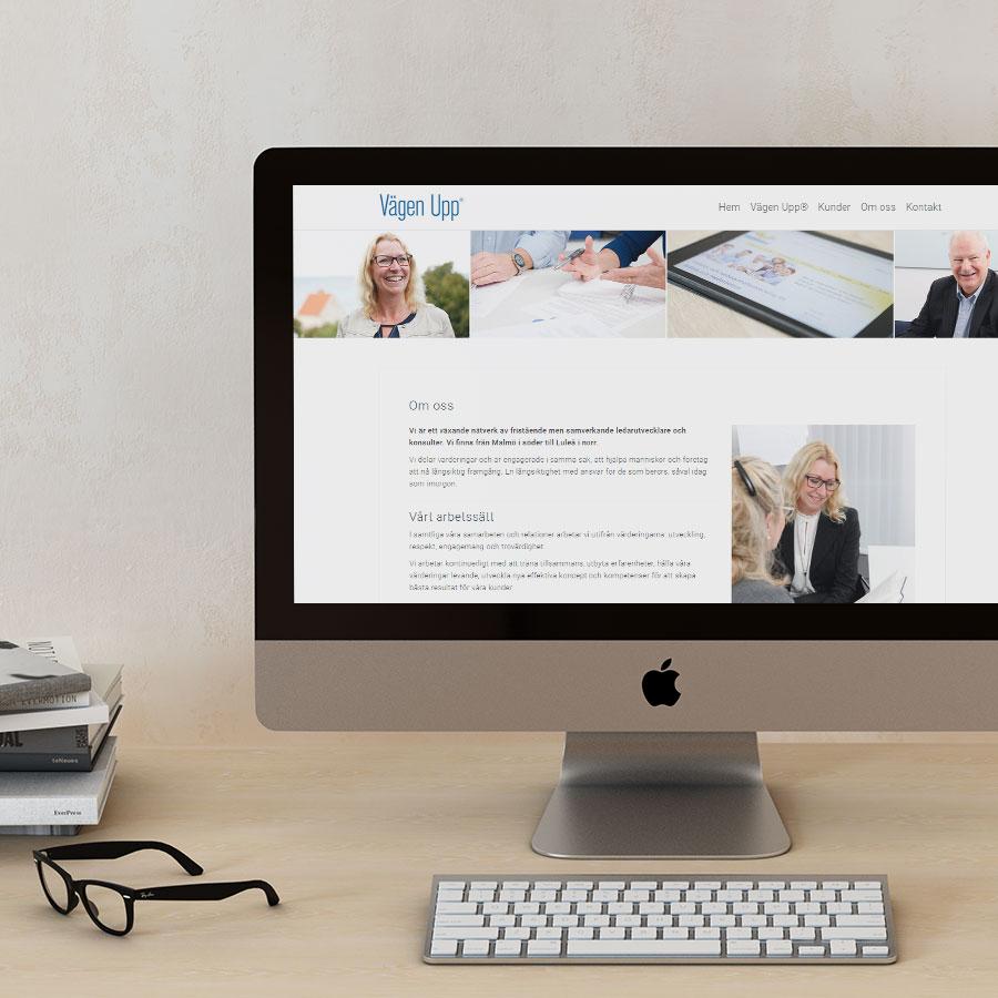 Vägen Upp - Responsiv hemsida