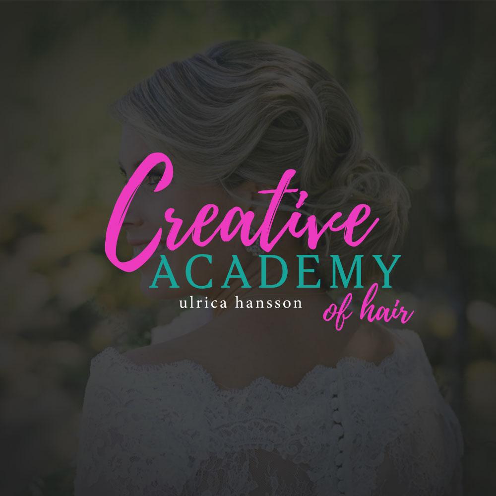 Creative Academy of Hair | Logotyp, grafisk profil, hemsida